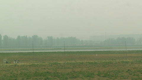 Beijing Capital International Airport 22 on the runway s7... Stock Video Footage