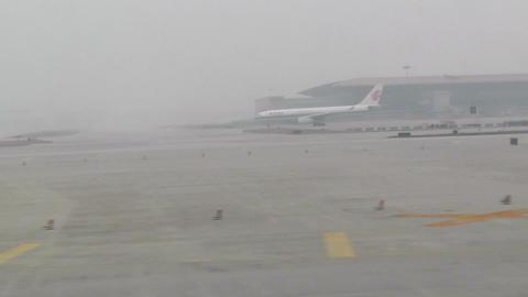Beijing Capital International Airport 28 takeoff h Stock Video Footage