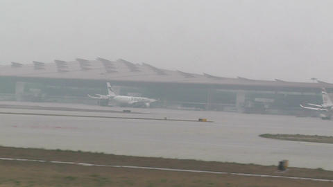 Beijing Capital International Airport 28 takeoff h Footage