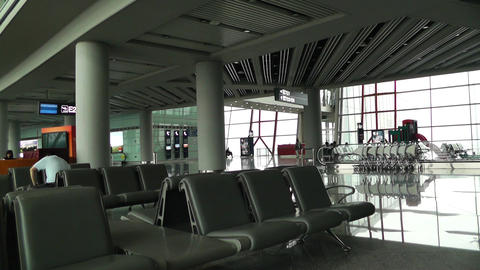 Beijing Capital International Airport Terminal Waiting... Stock Video Footage