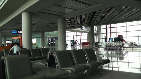 Beijing Capital International Airport Terminal Waiting... Stock Video Footage