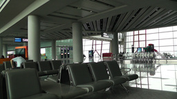 Beijing Capital International Airport Terminal Waiting Hall 01 Footage