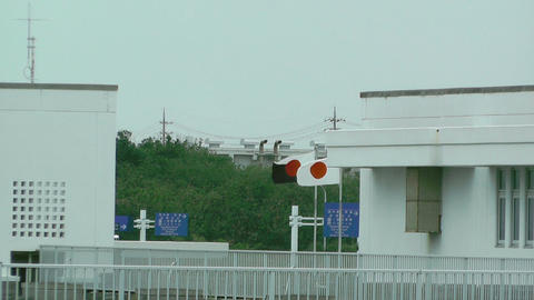 Japanese Flags in Okinawa Stock Video Footage
