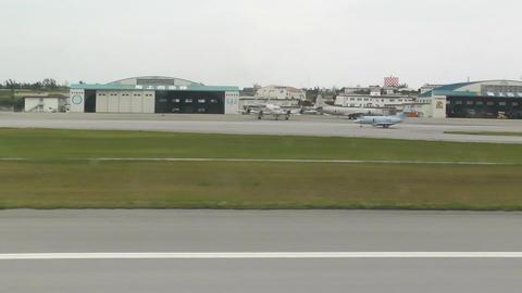 Landing Okinawa Naha Airport 02 handheld Stock Video Footage