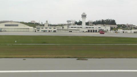 Landing Okinawa Naha Airport 02 handheld Footage