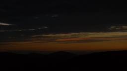 Panorama Over A Mountain Range In The Early Morning Hours 138 stock footage