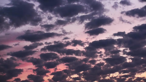 Red Sunset Epic Clouds stock footage