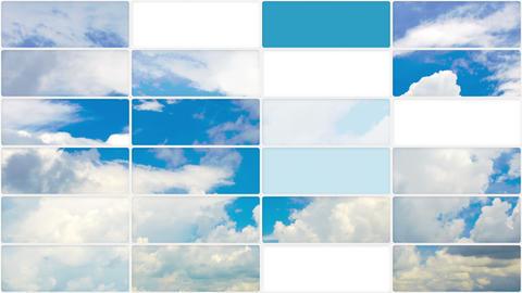 clouds in sky seamless loop background 4k (3840x2160) Footage