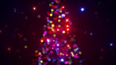 Blurred Christmas Tree Lights Flashing Loopable 4k (4096x2304) stock footage
