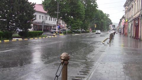 Car Traffic On Heavy Rain 10 stock footage