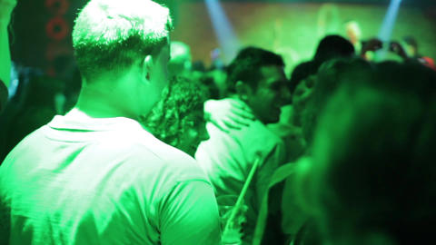 Young People Having Fun At The Disco 4091 stock footage