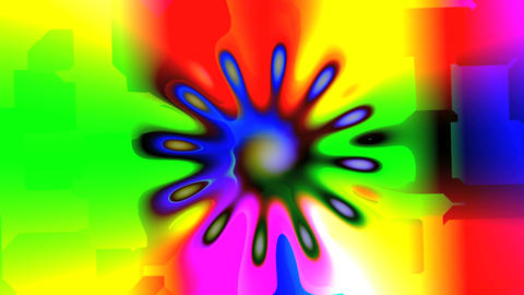 Bright colored mandala Animation