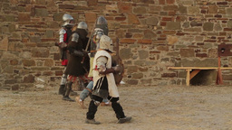 2540 knights in armor coming after the fight Footage