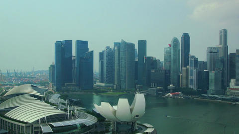 Panorama of Singapore Footage
