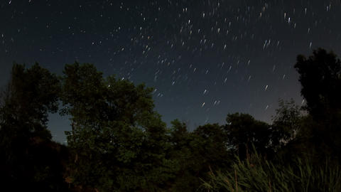Starry night on the river Seversky Donets, Rostov Region, Russia, Full HD Footage