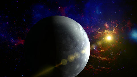 Pluto planet in space Animation