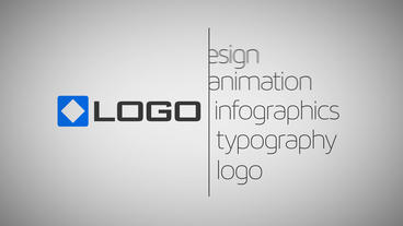 Minimal Line Logo Reveal Business Text Titles Animated Business Card