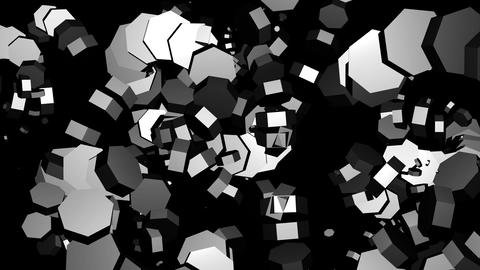 Diamond Black White VJ Loop Abstract Background stock footage