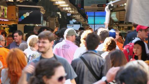 Crowd Shopping in La Boqueria Market in Barcelona Image