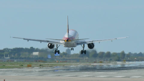 Iberia Airlines Jet Plane Approaching Landing Footage