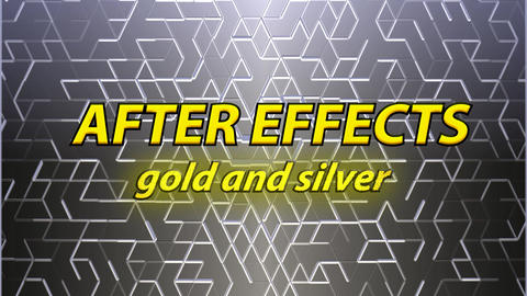 Silver plates background and golden double text (no plugin) After Effects Template