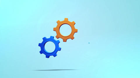 Mechanical pop gear animation for intro and logo reveal - 2