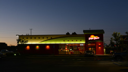 Del Taco Restaurant During Morning stock footage