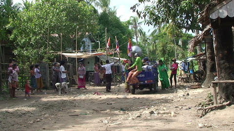 Pathein, women collect money for party with scales Footage