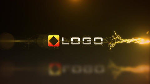 Electric Fire Light Streak Dynamic Logo and Text Reveal Animation Intro After Effects Template
