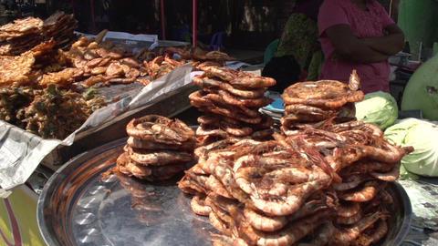 Yangon, food stall Footage