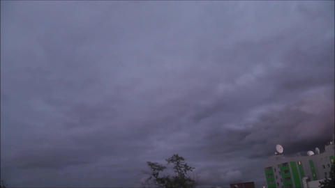 Sky Timelapse Over The Building stock footage