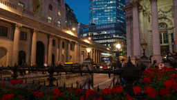 Bank of England and Royal Exchange Timelapse Live Action