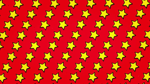 Yellow Stars Red Background Animation Seamless Looped Texture Animation