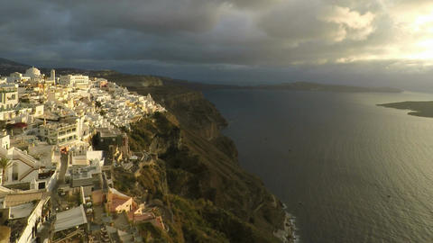 Santorini Pan Zoom stock footage