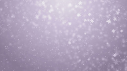 Beautiful violet winter background with snowflakes Animation