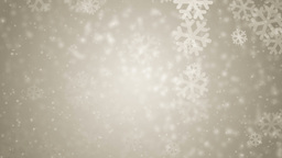 Beautiful gold winter background with snowflakes Animation