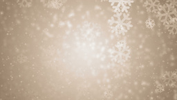 Beautiful orange winter background with snowflakes Animation