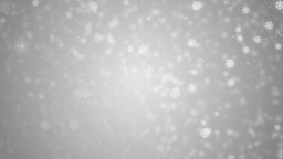 Beautiful silver winter background with snowflakes Animation