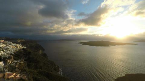 santorini island in greece Footage