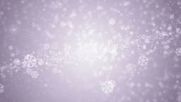 Beautiful violet winter background with snowflakes CG動画素材