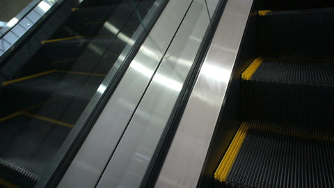 On Moving Escalator Footage