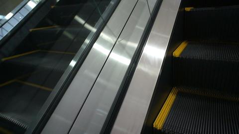 On Moving Escalator Footage