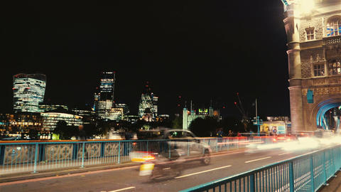 Tower Bridge Timelapse Double Exposure Footage