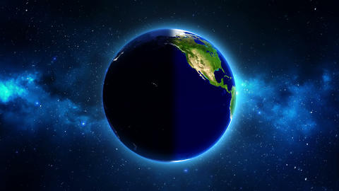 Planet Earth in universe or space rotates 360 degrees Footage