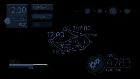 Business Infographics Dark Blue Elements Animation