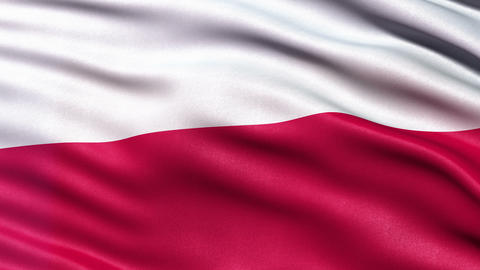 4K Poland flag seamless loop Ultra-HD Animation