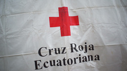 Red Cross Symbol Ecuador stock footage