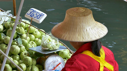 Floating Market, Thailand stock footage