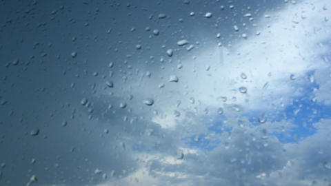 it's raining behind the window Footage