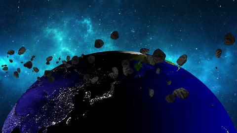 Planet Earth In Universe Or Space Rotates 360 Degrees stock footage